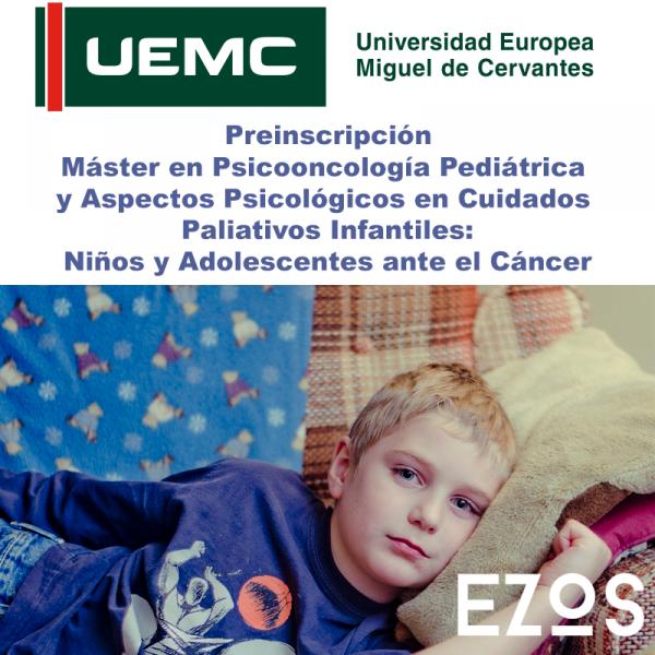 Preinscripción Máster en Psicooncología Pediátrica
